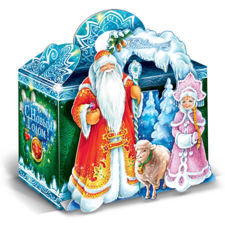 Дед Мороз и Снегурочка 1000 гр (40 шт) с овечкой