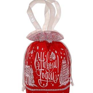 Мешок Новогодний красный 1000 гр