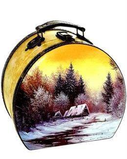 """Саквояж """"Просто зима"""" дерево-кожа 900 гр (1 шт)"""