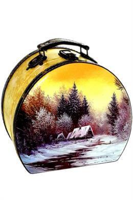 """Саквояж """"Просто зима"""" дерево-кожа 900 гр"""