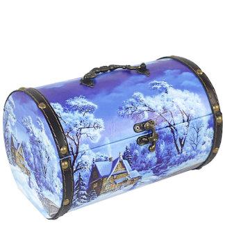 Шкатулка Подарочная (дерево-кожа) 900 гр