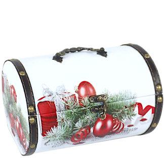 Шкатулка Рождественская (дерево-кожа) 900 гр