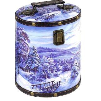 Туес На опушке (дерево-кожа) 900 гр