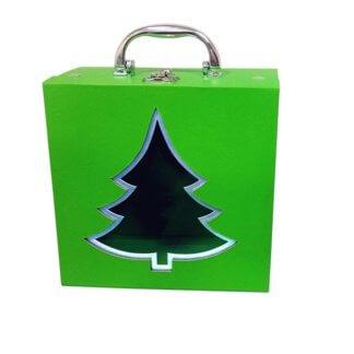 Чемоданчик зеленый (Переплетный картон) 900 гр
